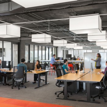 Two Sigma Investments LP, in New York City chose Lumetta to create Custom Surface Mount Box pendant lighting to add stylish feel to their office.