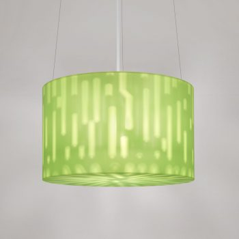"Lumetta 23"" Echo Pendant in Echo Kiwi Diffuser and Tech Pattern"