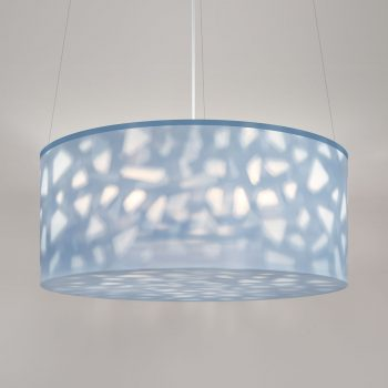 "Lumetta 33"" Echo Pendant in Shell Pattern and Echo Mystic Diffuser"