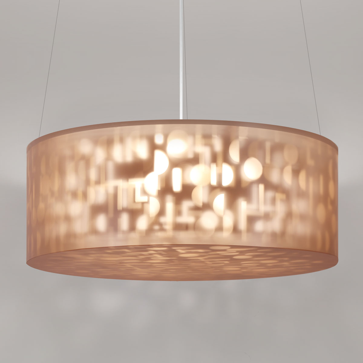 "Lumetta Echo 44"" Pendant in Echo Gold"