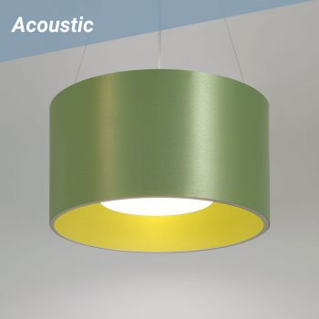 Drum L2 Acoustic pendant shown with Acoustic sound-dampening shades