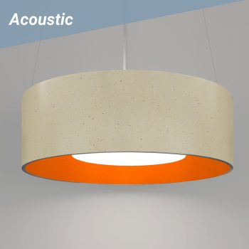 L2 Acoustic 42 Pendant D14 Eggshell & D704 AC Orange