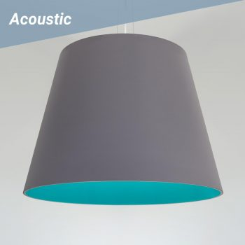 Taper L2 Acoustic pendant shown with Acoustic sound-dampening shades