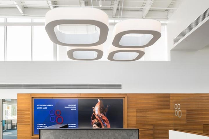 Stantec Creates a Bold Statement with Custom Logo Luminaire