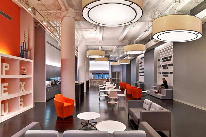 AppNexus Office with Drum Pendants
