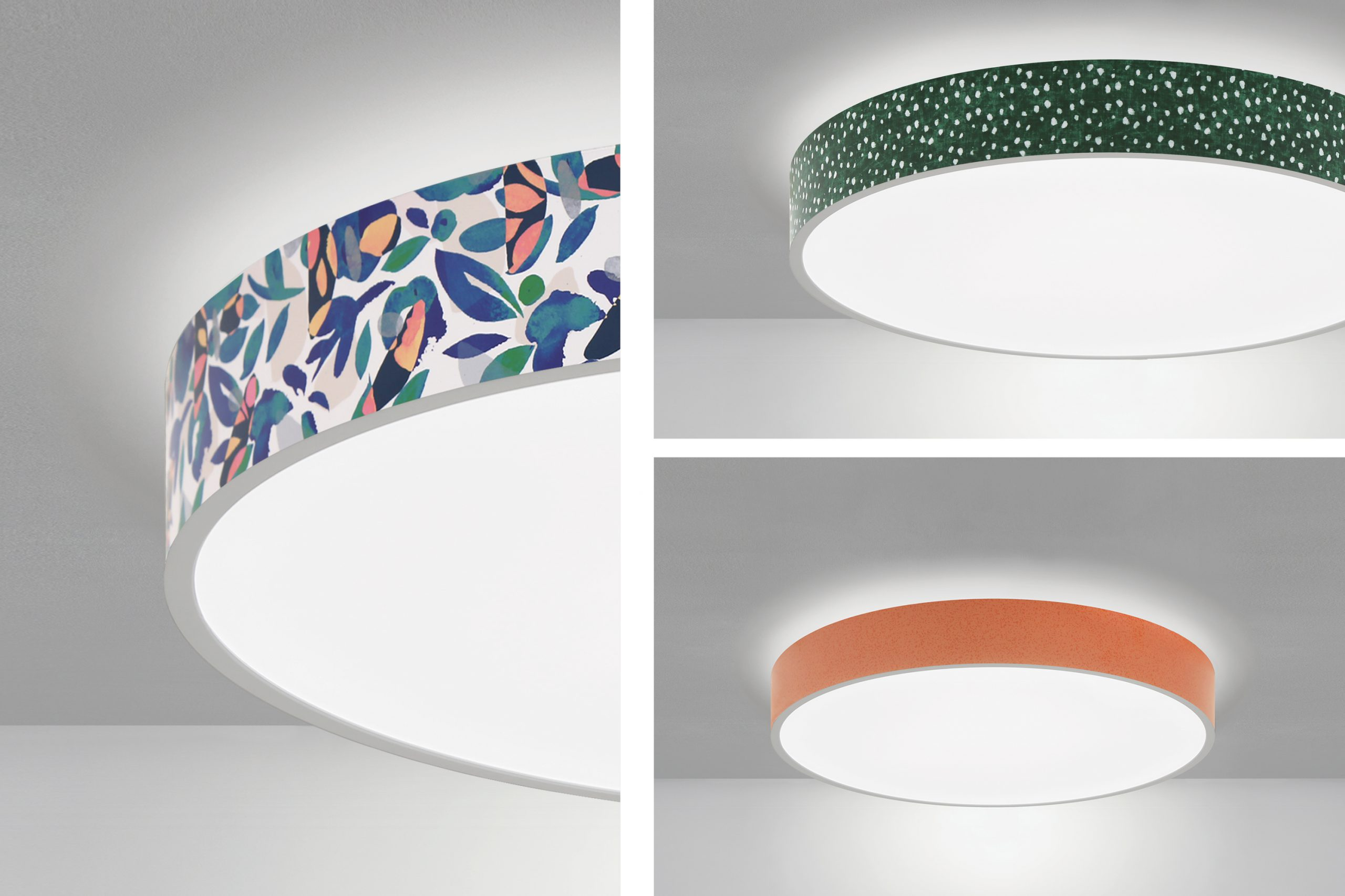 Lumetta packs a visual punch with the addition of 7 new boldly colored wraps and patterns now available with their MUSE luminaires.